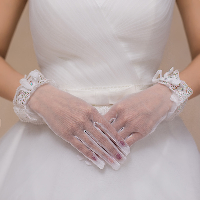buy online 524e9 15f83 guanti sposa tulle corti online economici accessori sposa