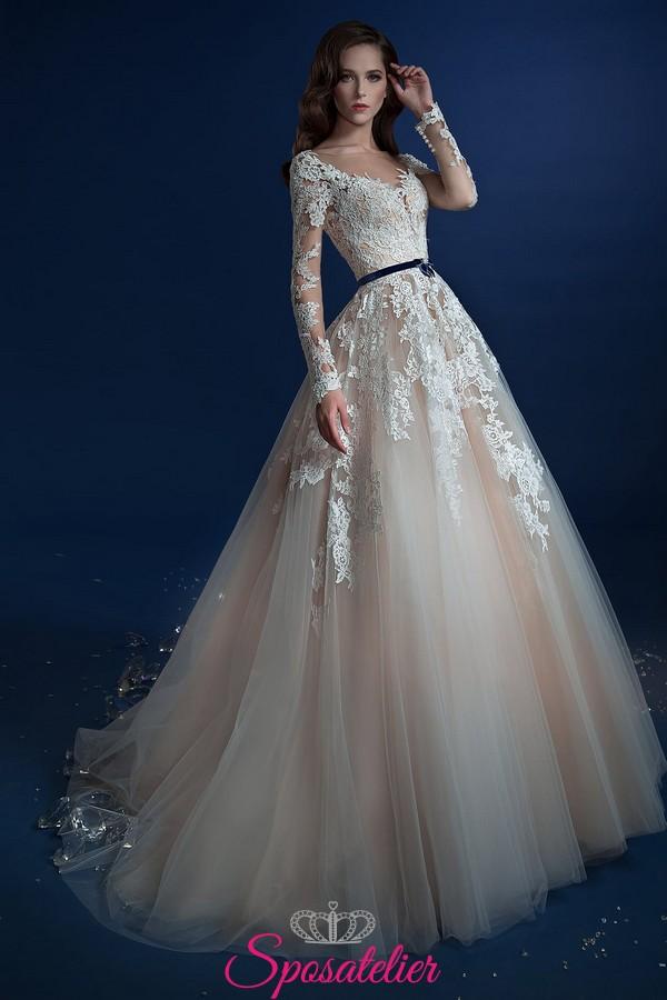 33e9aef17db3c6 abiti da sposa colorati 2017 tendenze modelli a prezzi di fabbrica vendita  online