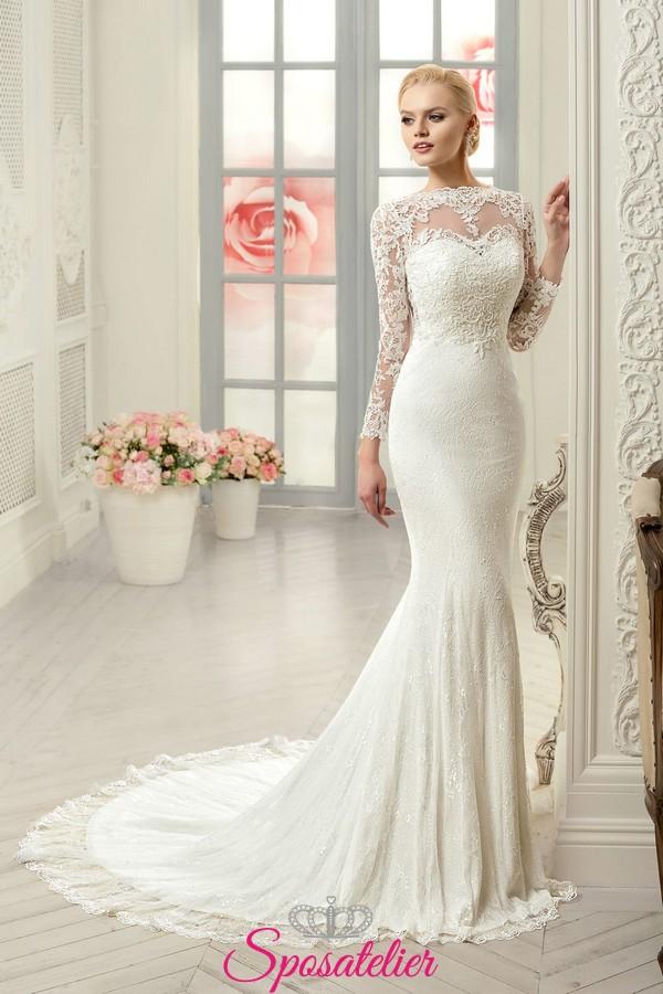 super popular 470f6 491fa abiti da sposa a sirena ideale per donna con corporatura esile o fisico a  clessidra