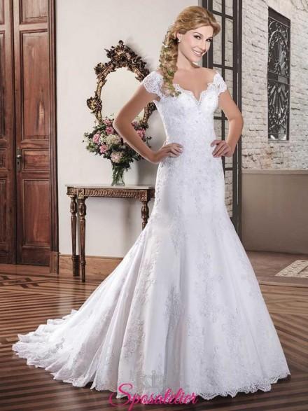 ZIEARA – abiti da sposa a prezzi di fabbrica con scollo omerale vendita online collezione