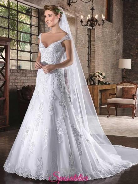 REMYNA – abiti da sposa con scollo omerale seducente vendita online collezione