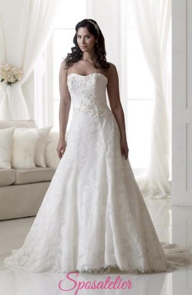 abiti da sposa con scollo a cuoreper taglie extra large
