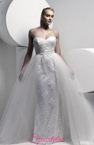 abiti da sposa due pezzi per taglie comode online gonna removibile