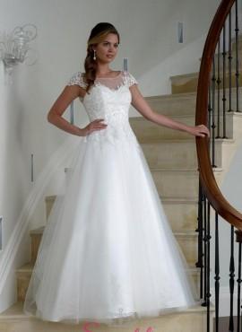 Scintilla – abiti da sposa ricamato in pizzo per donne curvy economici online