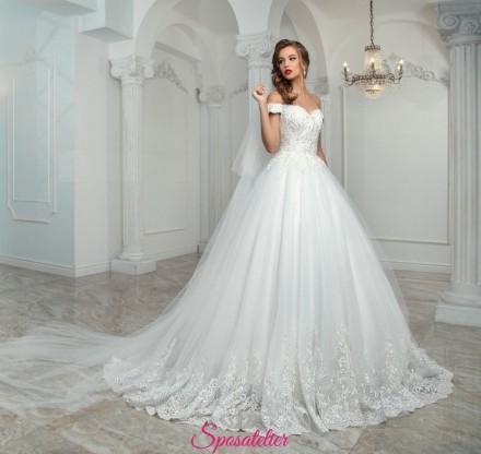 KEYRA – abiti da sposa principeschi con spalline ,economico vendita online