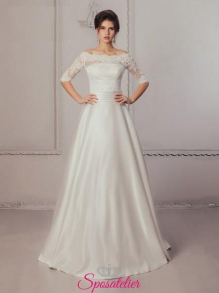 Sheeva – abito da sposa con scollo a barchetta economici online