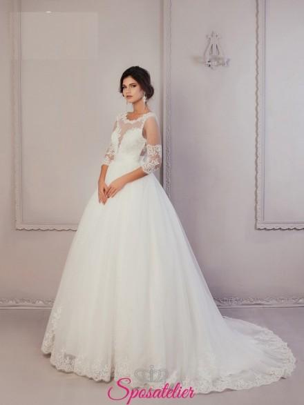 Chega – abiti da sposa da vera principessa con gonna ampia economici online