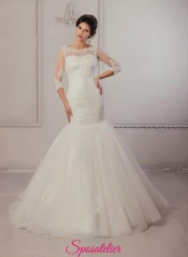 abiti da sposa a sirena in pizzo economici online 2017