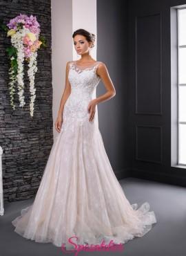 abiti da sposa colorati avorio e tulle rosa economici vendita online