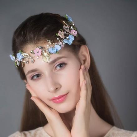 Coroncina di fiori per damigella sposa online sito italiano