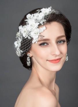fascia per acconciatura sposa online a rete con pizzo sito italiano
