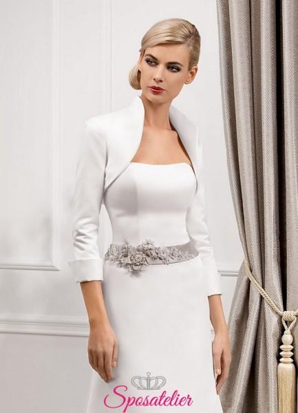 coprispalle sposa giacchino di raso realizzato su misura economici