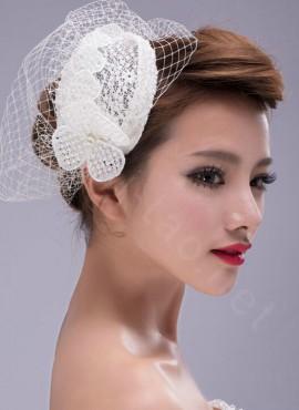 Veletta per Sposa Elegante con rete di tulle decorata economica online sito italiano