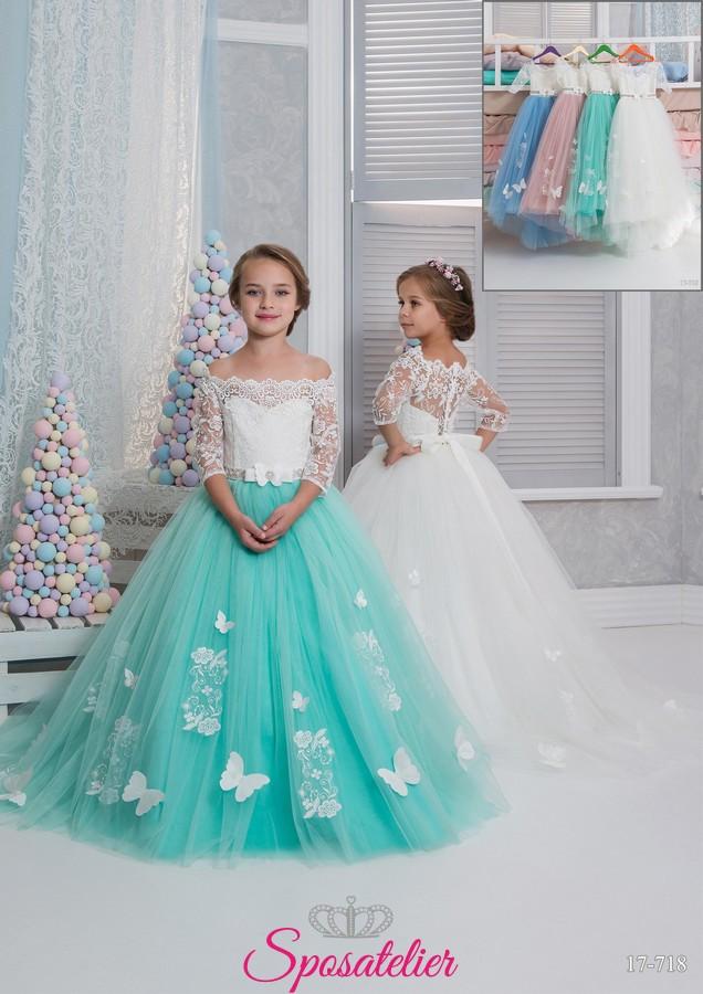 new arrival ab95f 41881 Palermo-vestito prima comunione bambina collezione 2018