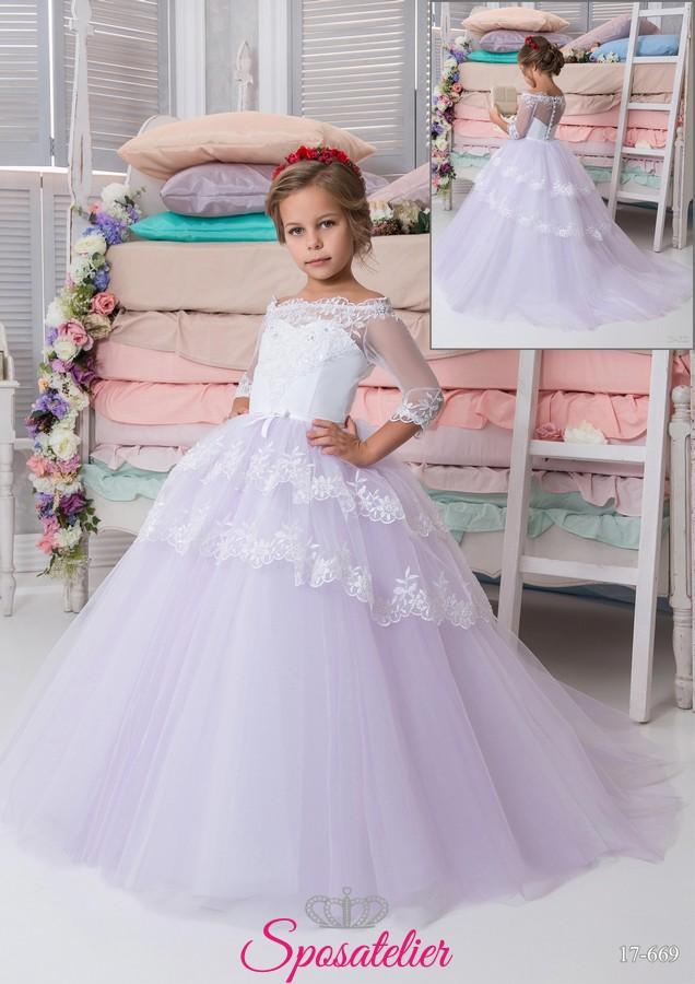 Collezione Prima Bambina Comunione Vestito 2018sposatelier P8wOnk0