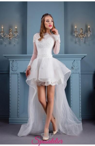 Brunella – abito da sposa corto davanti e lungo dietro moda