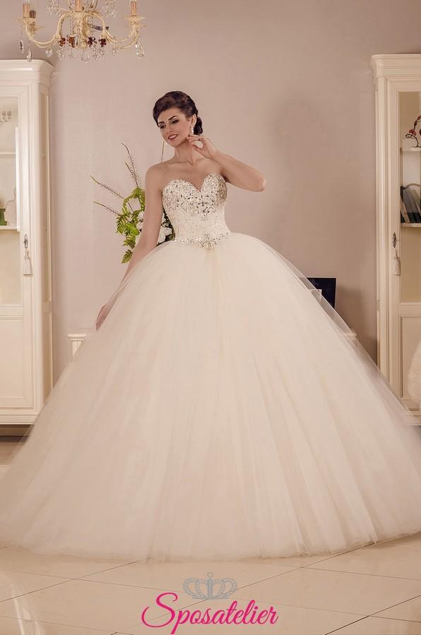 Favorito Vestito da Sposa vendita online gonna a palloncino in tulle e  CT22