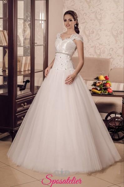 vestiti da sposa economici  a palloncino online tessuti di alta qualità
