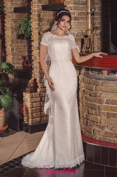 MELODI – Vestito da Sposa  a sirena elegante con schiena scoperta economico online