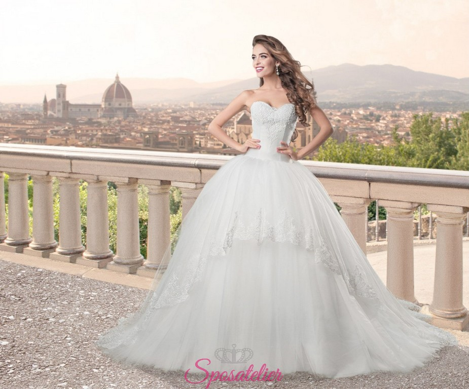 abiti da sposa pomposo da principessa collezione 2017 nuovi modelli