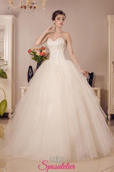 ZULEMA – Vestito da Sposa Nuova collezione da principessa con corpetto decorato