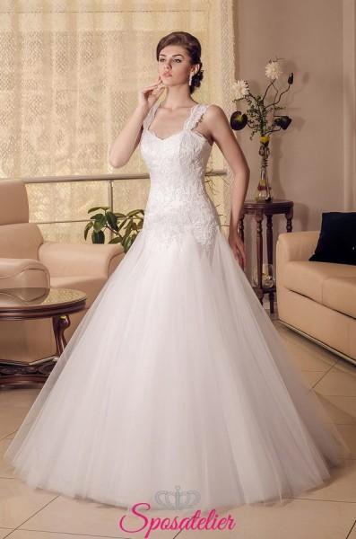 vestiti da sposa economici online con spalline