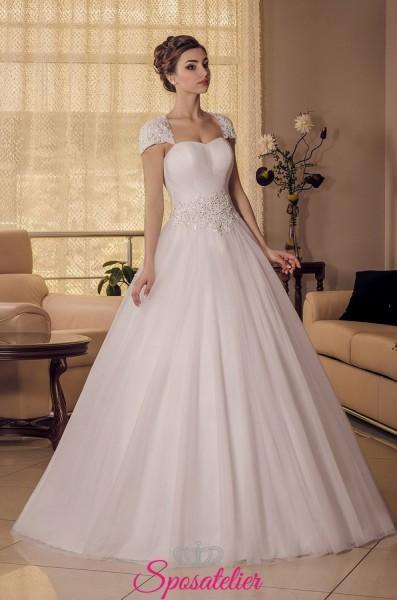 vestiti da sposa economici online a-line con spalline