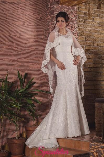 Vestito da Sposa  a sirena di pizzo sensuale ed elegante economico