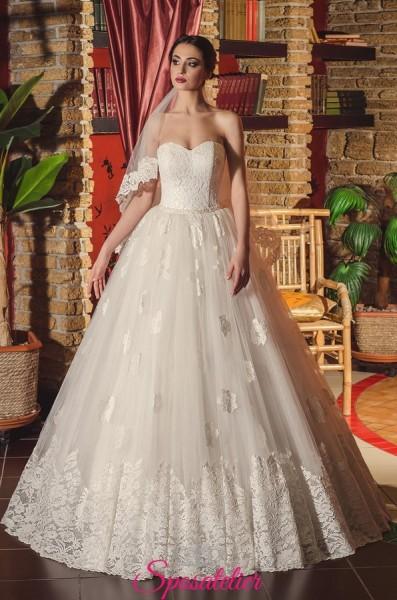 Vestito da Sposa con scollatura a cuore economico vendita online gonna ampia