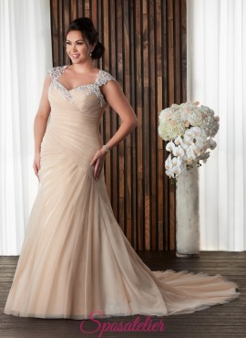 JERMANA -abiti da sposa colorati taglie forti economici online