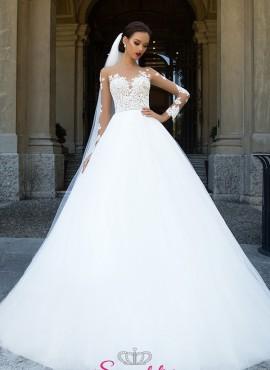Astra – abiti da sposa in pizzo principesco con maniche di pizzo