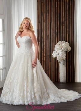 abiti da sposa color avorio e champagne per taglie forti 2017