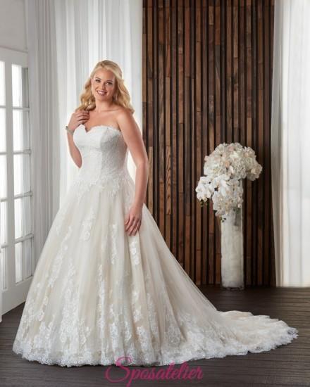 KETTY – abiti da sposa color avorio e champagne per taglie forti