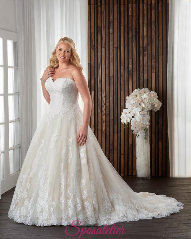 addac5a48839 abiti da sposa color avorio e champagne per taglie forti 2017Sposatelier