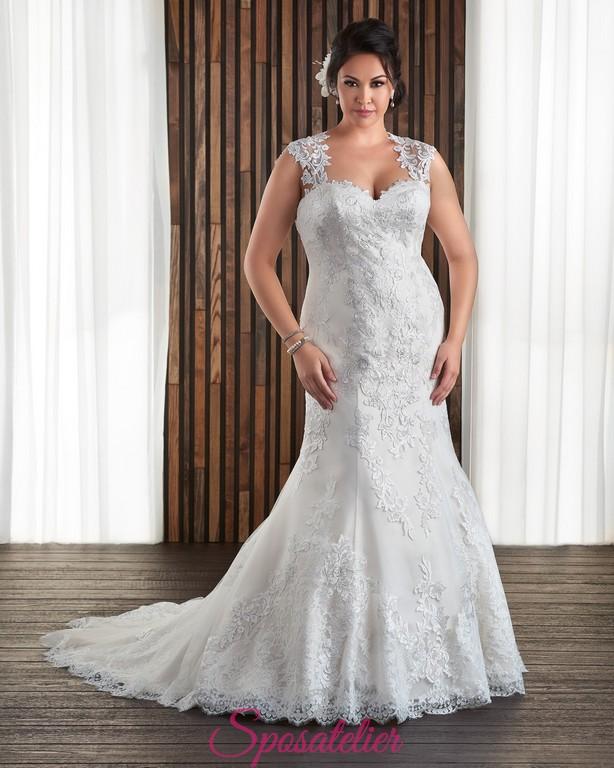 0a432c17adf1 abiti da sposa a sirena con spalline per taglie forti 2017Sposatelier