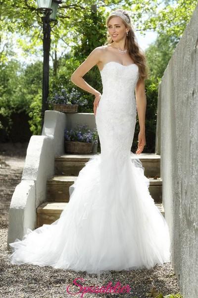 FYONA – abiti da sposa a sirena economico online con scollo a cuore