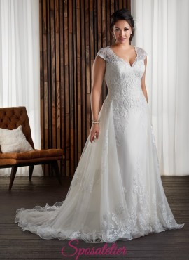 YLY – abiti da sposa con spalline e coda taglie forti