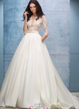 abiti da sposa in pizzo vendita online scollatura profonda economici