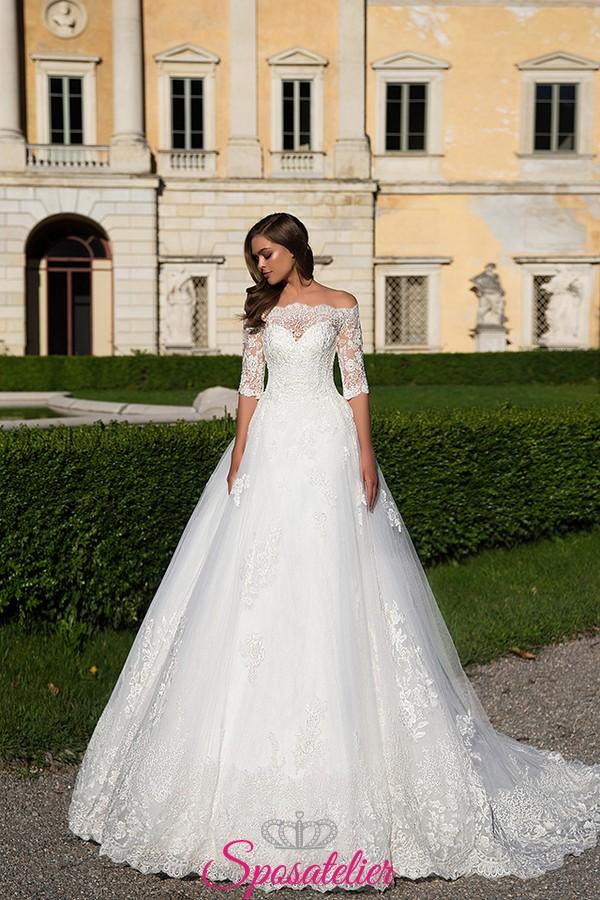 Amato abiti da sposa in pizzo principesco con scollo omerale 2017Sposatelier GF75