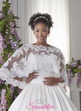 Mantellina copri abito da sposa per la Chiesa economico online