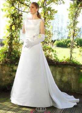 A3030 – vestiti da sposa online economici italia con strascico rimovibile