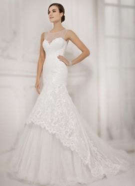 abito da sposa mezza sirena con scollo a cuore Online Economico