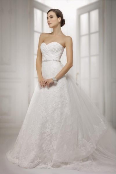 abito da sposa acquisto online modello a line con cintura