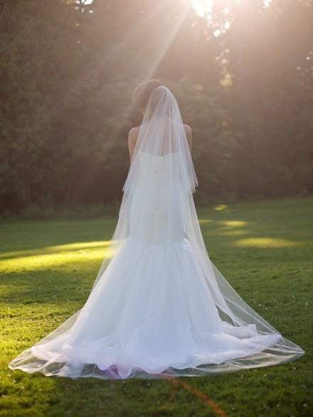 velo sposa cattedrale on line economico lungo 3 metri
