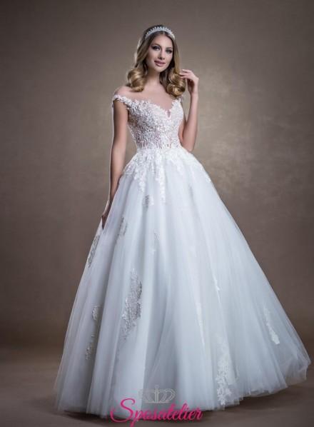 CANADA – vestiti da sposa online Nuova collezione in tulle e pizzo ricamato