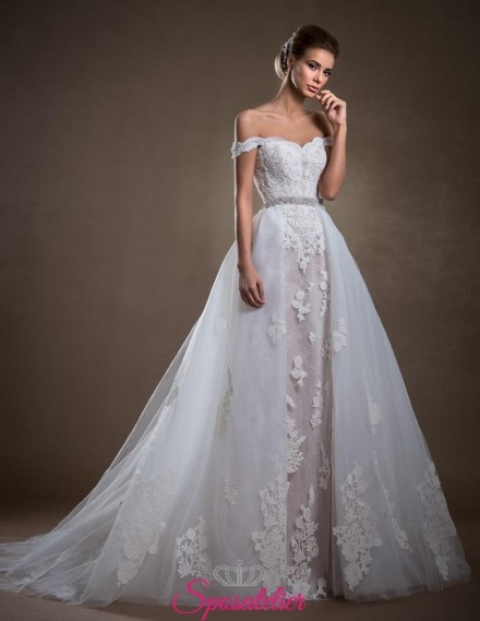 Abito da sposa con gonna staccabile trend 2018