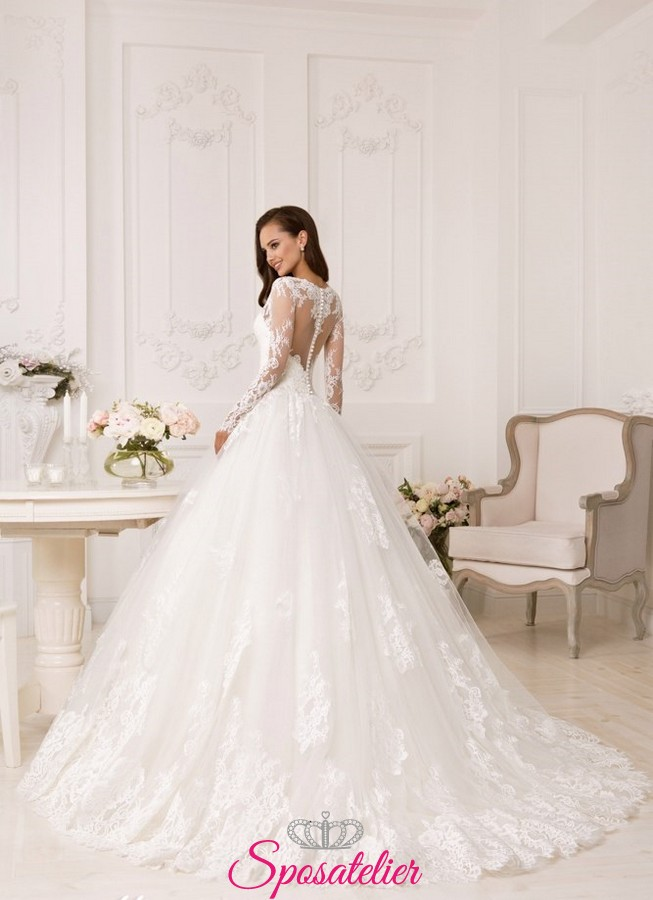 Abiti da sposa gonna ampia e strascico – Vestiti da cerimonia 4b35f2ddb7b