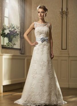 Maddalena – abito da sposa con fiocco colorato