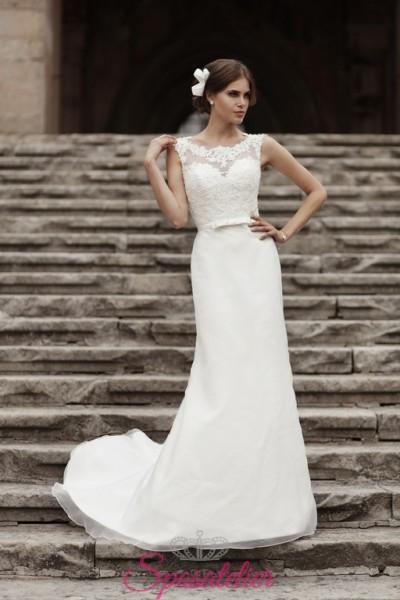 abiti da sposa con cintura in raso elegante e raffinato