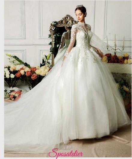 Scarpe Sposa Grace Kelly.Abito Da Sposa Online Stile Grace Kelly Ricamato In Pizzo Con
